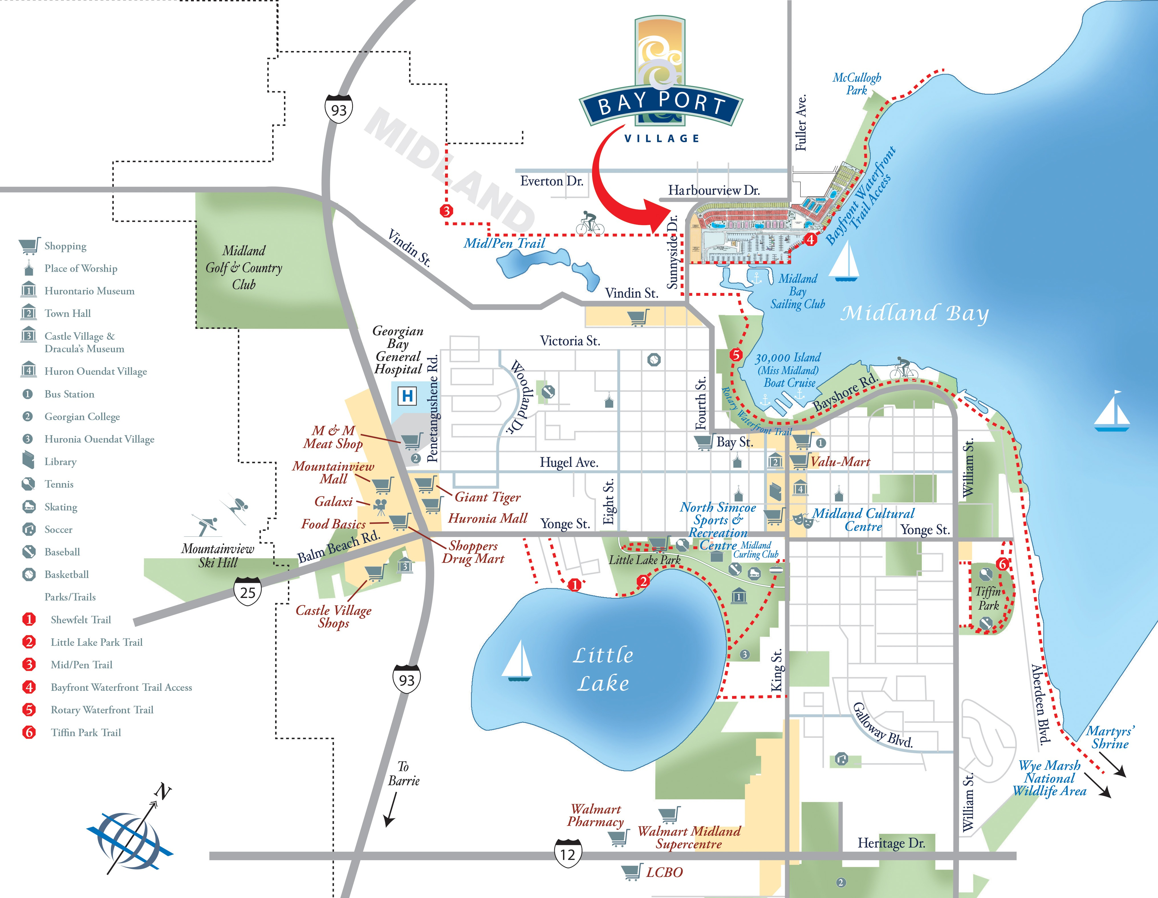 Bay Port Village Midland Ontario Home For Sale Map