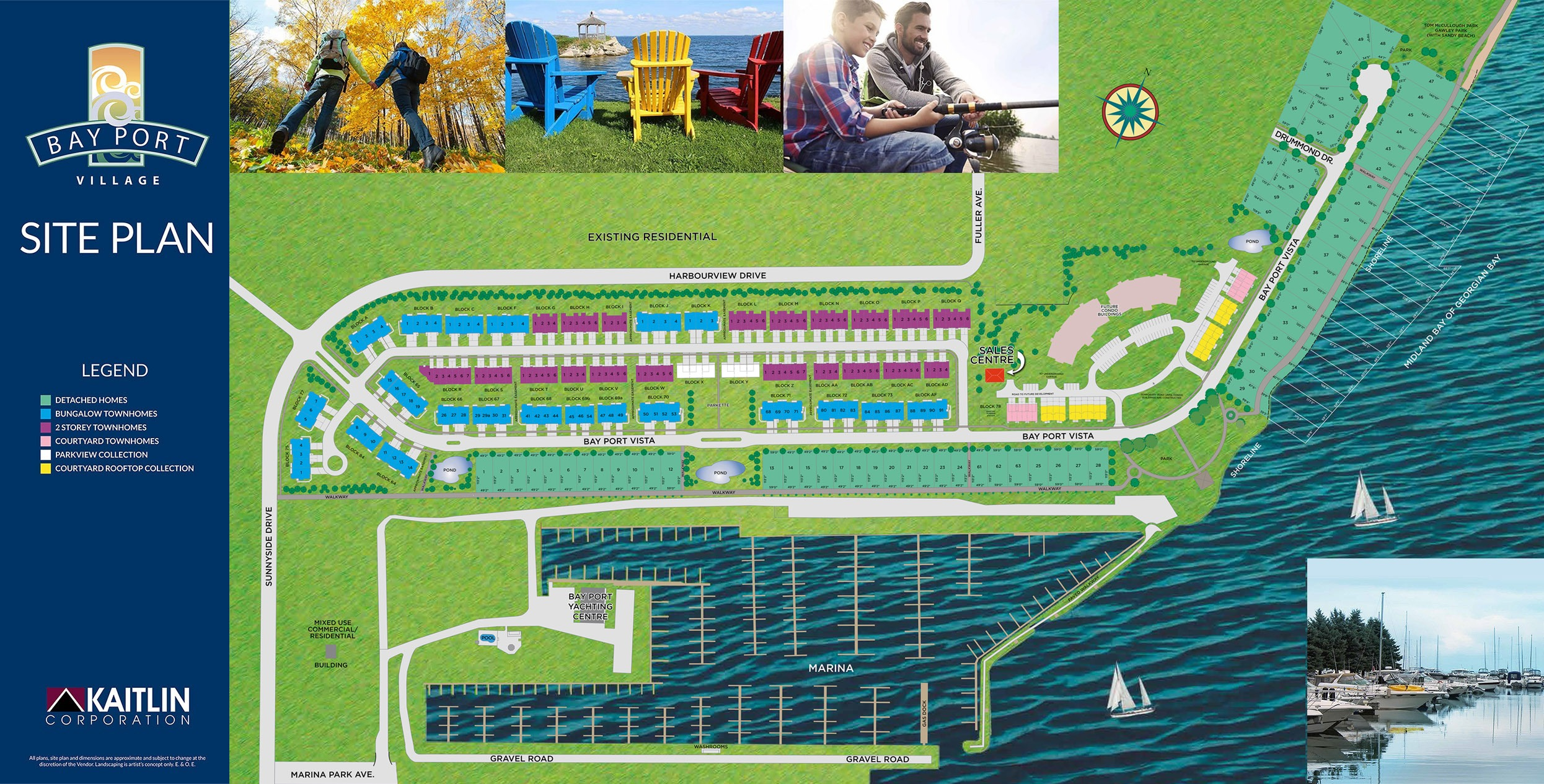 Midland Bay Port Village In Ontario Canada Site Map